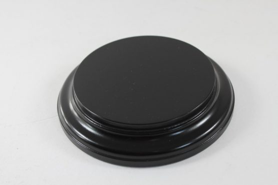 Black Round Base 110mm x 25mm 200007b