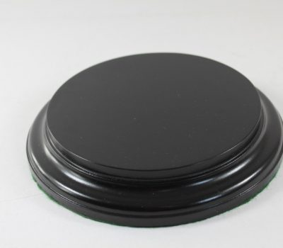 Black Round Base 135mm x 25mm 200007c