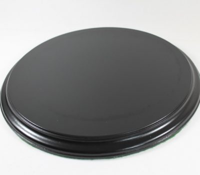 Black Flat Round Base 18mm Thick With a 265mm Diameter display area