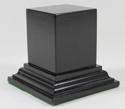 Black Square Plinth Base 45mm x 45mm x 50mm High