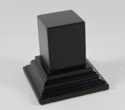 Black Square Plinth Base 32mm x 32mm x 40mm