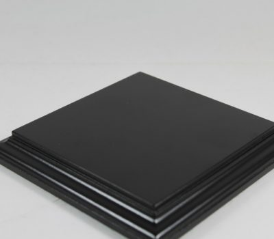 Black Square Base Flat 120mm x120mm x 18mm