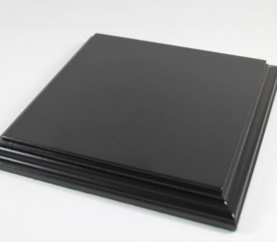 Black Square Base Flat 150mm x150mm x 18mm