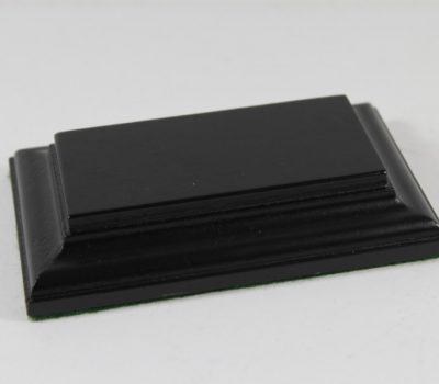 Black Rectangular Base Flat 37mm x 77mm x 18mm