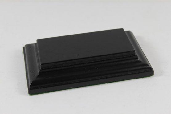 Black Rectangular Base Flat 37mm x 77mm x 18mm
