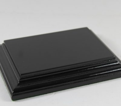 Black Rectangular Base Flat 73mm x 100mm x 18mm