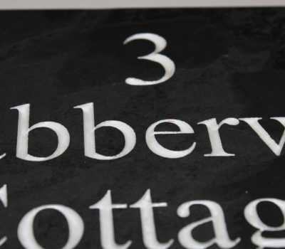 Slate House Name Plaque with Deep Engraved Lettering 200mm x 300mm