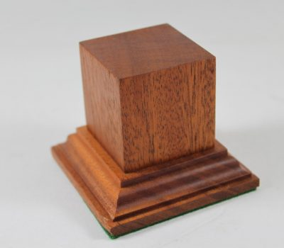 Mahogany Square Plinth Base 45mm x 45mm x 50mm