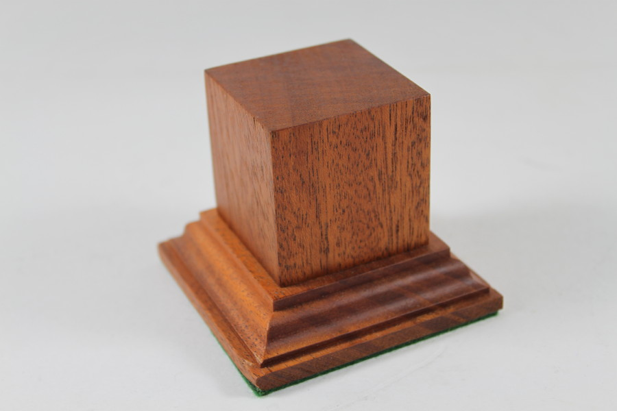 Mahogany Square Plinth Base 45mm x 45mm x 50mm