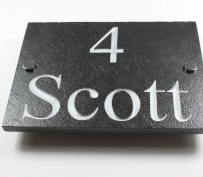 Deep Engraved Slate House name plate 350mm x 250mm x 10mm