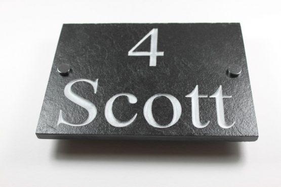 Deep Engraved Slate House name plate 350mm x 250mm x 10mm