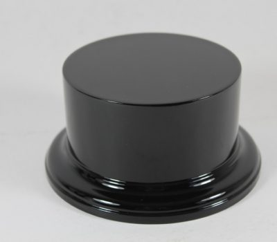 Black Gloss Plinth Model or Trophy Base 110mm x 50mm High