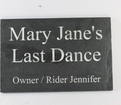 Deep Engraved Slate Name Plate for Stable Doors 300mm x 200mm x 10mm