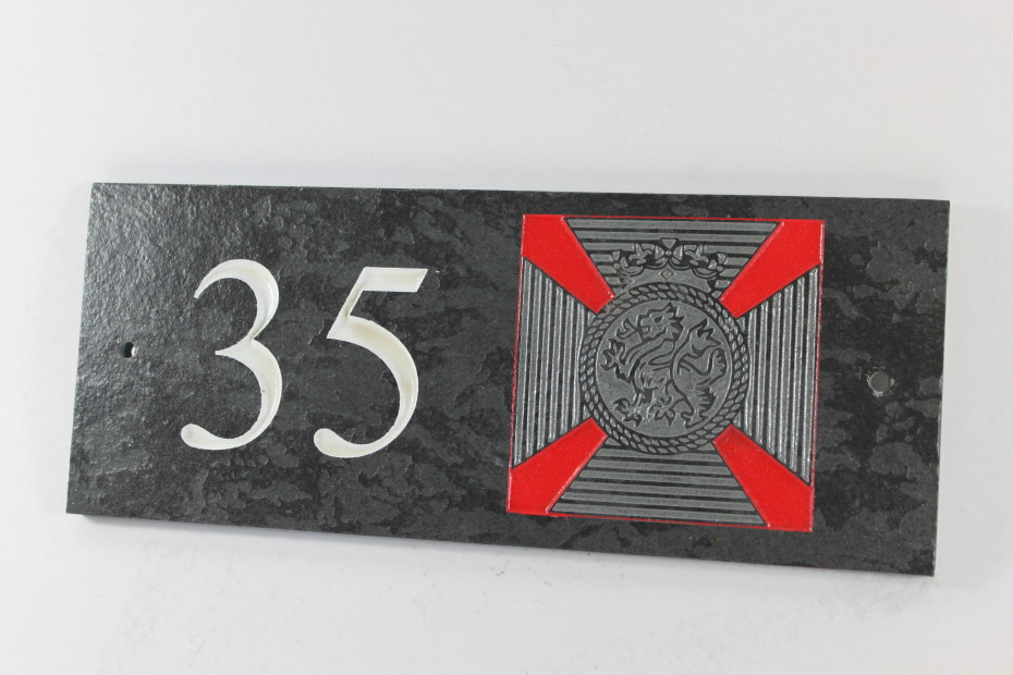 The Duke Of Edinburghs Badge House Name plate 300mm x 120mm x 10mm