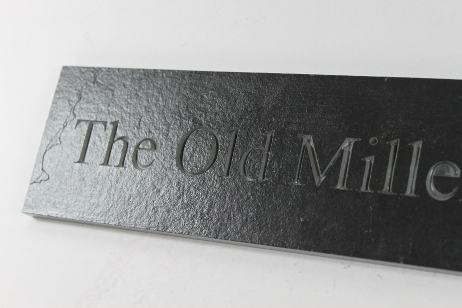 Deep engraved slate house name plate 400mm x 90mm x 10mm for Deep house names