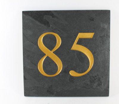 Deep Engraved Slate House name plate 300mm x 300mm x 10mm