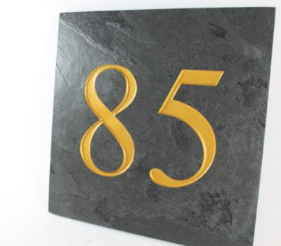 Deep Engraved Slate House name plate 300mm x 300mm x 10mm