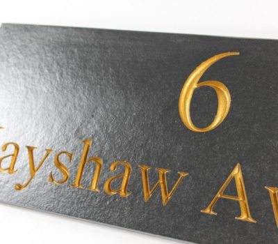 Deep Engraved Slate House name plate 400mm x 150mm x 10mm