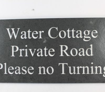 Deep Engraved Slate House name plate 400mm x 200mm x 10mm