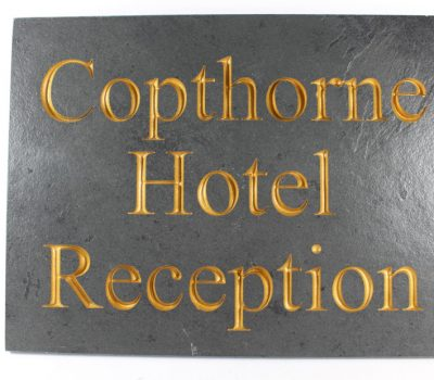 Deep Engraved Slate House name plate 400mm x 300mm x 10mm