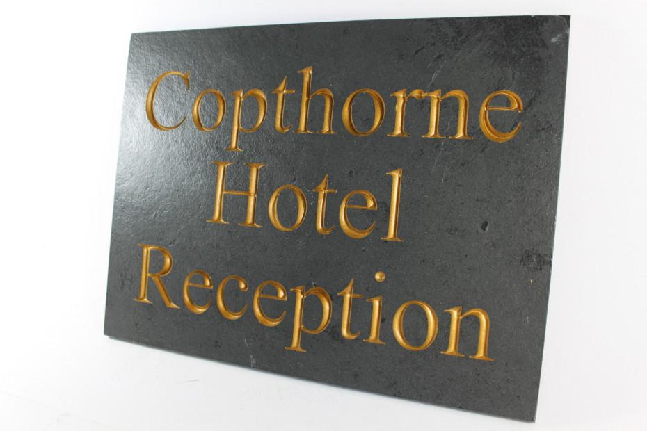 Deep Engraved Slate House name plate 400mm x 300mm x 10mm