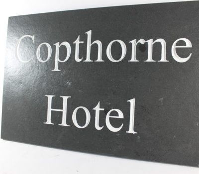 Deep Engraved Slate House name plate 450mm x 300mm x 10mm