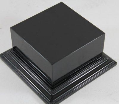Gloss Black Square Plinth 100mm x 100mm 65mm High