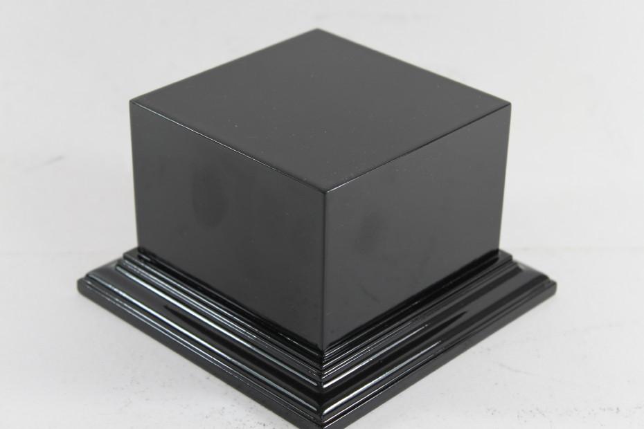 Satin Black Square Plinth 100mm x 100mm 65mm High