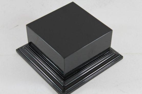 Satin Black Square Plinth 100mm x 100mm 45mm High