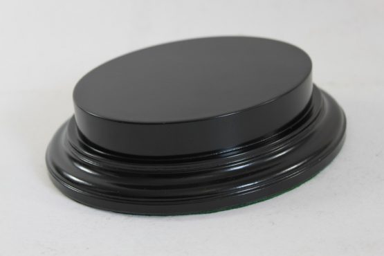 Black Oval Base With Upstand 100mm x 125mm x 18mm