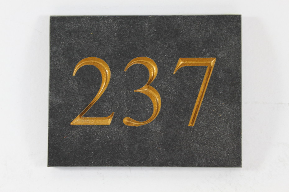 Deep Engraved Slate House name plate 110mm x 140mm x 10mm