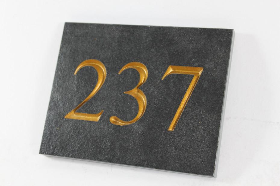 Deep Engraved Slate House name plate 110mm x 140mm x 10mm