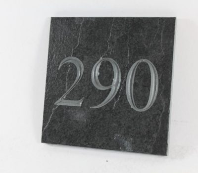 Deep Engraved Slate House name plate 150mm x 150mm x 10mm