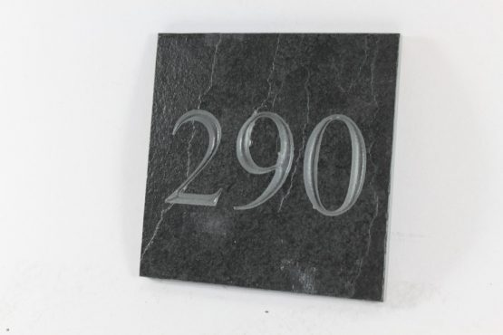 Deep Engraved Slate House name plate 150mm x 150mm x 10mm