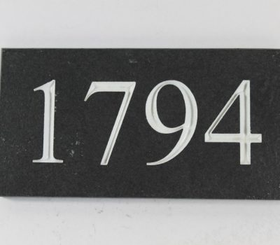 Deep Engraved Slate House name plate 170mm x 90mm x 10mm