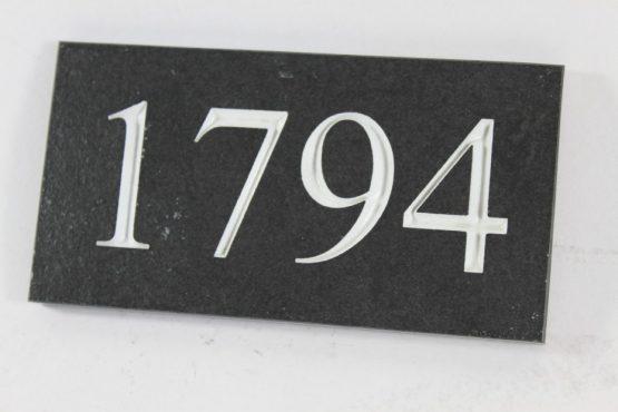 Deep Engraved Slate House name plate 170mm x 90mm x 10mm