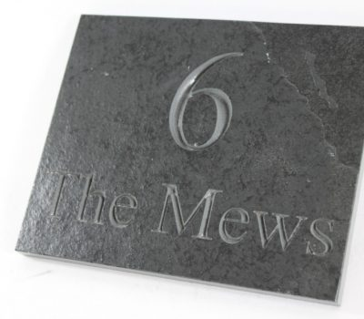 Deep Engraved Slate House name plate 170mm x130mm x 10mm