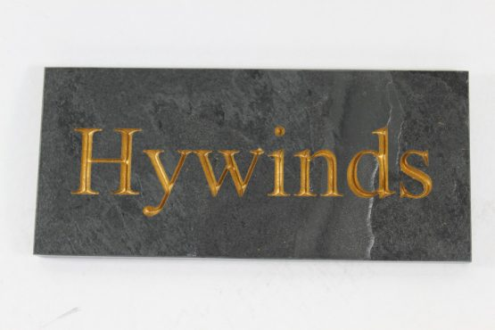 Deep Engraved Slate House name plate 200mm x 90mm x 10mm