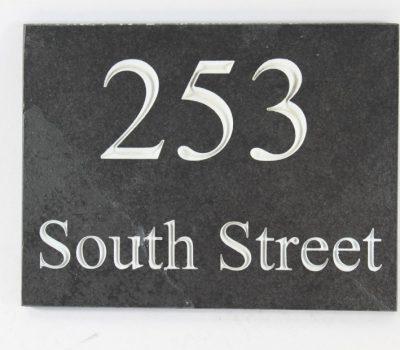 Deep Engraved Slate House name plate 200mm x 150mm x 10mm