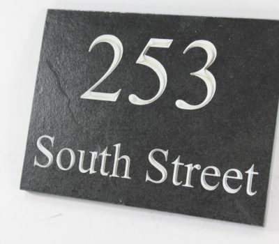 Deep Engraved Slate House name plate 200mm x 150mm x 10mm