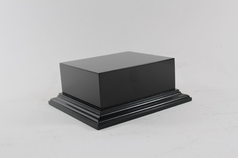 Satin Black Raised Plinth Diorama And Vehicle Base 112mm x 132mm x 45mm High