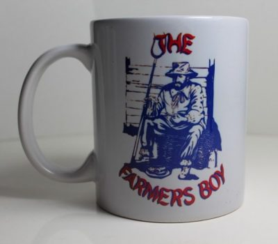 11oz Mug with Dukes badge and Farmers Boy logo