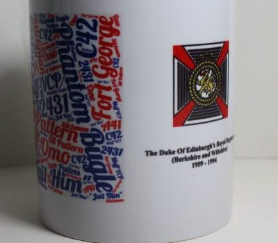 11oz White Memory Mug with Dukes of Edinburgh's Royal Regiment Badge