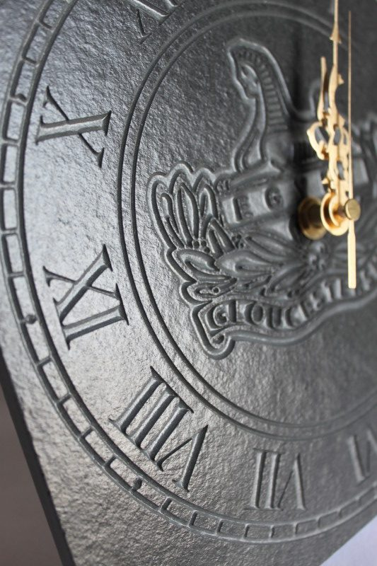 Gloucestershire Regiment Freestanding Slate Clock 22cm x 22cm x 10mm